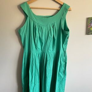 Bettie Page Teal Retro Dress